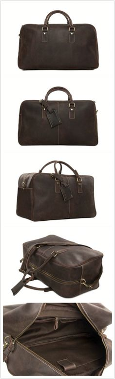 Handcrafted Antique Style Real Leather Travel Bag, Duffle Bag, Holdall Luggage  Bag 7156 d06d06a4d8