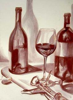 Christina LoCascio Wine Art||  Beso de Vino