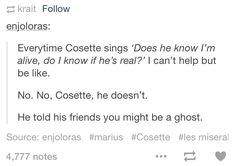 No one cares about your lonely soul, Marius.