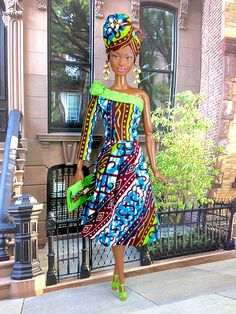 a6968eef917 ON RESERVE for SJ- Barbie Doll Skirt Suit - African Print Skirt Suit