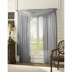 Master bedroom. Pair of Silver Sheer Panel Window Treatment Curtains by HLC.ME, http://www.amazon.com/dp/B008WW2TU2/ref=cm_sw_r_pi_dp_ifOWqb129XAYX