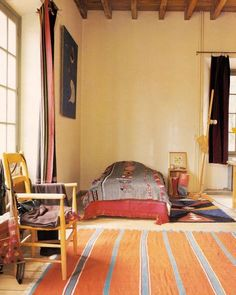 Calder's bedroom- simple and cozy.