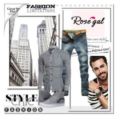 """""""Rosegal 12"""" by angel-a-m on Polyvore featuring Vans, men's fashion, menswear, MensFashion, polyvoreeditorial and polyvorefashion"""