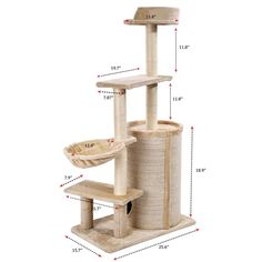 Cat Tree Condo Multi-level Cat Tower Cat Condo Barrel Double Hole with Soft Basket, Scratch Proof and Dirt-resistant Kitten Furniture Play House ** You can get additional details at the image link. (This is an affiliate link) #CatTree