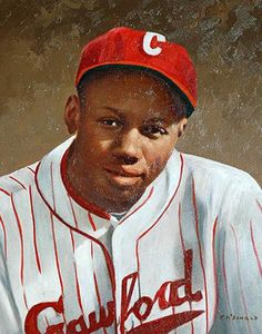 Josh Gibson oil painting by former NFL player Tommy McDonald