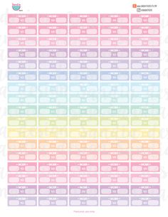 Printable Planner Stickers Calendar Stickers By Freshandorganized