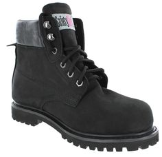 Safety Girl II Sheepskin Lined Womens Work Boots - Black
