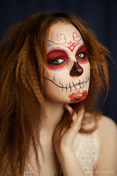 catrina - costume - mexican - traditions - idea - girl - paint - face - party - Halloween - dia de muertos-- I need to work on this tutorial asap!!