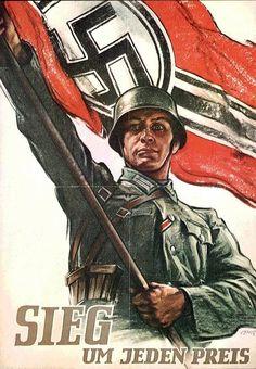 Guerra totale... Vittoria ad ogni costo - Poster di propaganda Nazista.