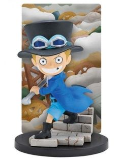 ONE PIECE Card Stand Figure New Generation Sabo with Background Card