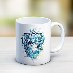 CLEARANCE! Ravenclaw Crest Mug, Harry Potter Mug, Ravenclaw mug, harry potter kids gifts, coffee mug, watercolor harry potter gifts ET253 by InstantGoodVibes on Etsy