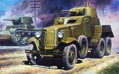 Советский бронеавтомобиль БА-10.