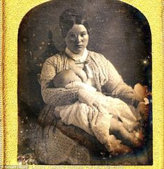 trend in America in the mid-1800s saw nursing mothers posing for photographs with their babies at their breasts