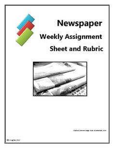 newspaper article writing assignment rubric elementary