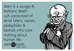 Islam is a savage & barbaric death cult comprised of serial killers, rapists, pedophiles & bestials who care nothing about human life.