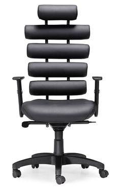 $310.95   Zuo Unico Office Chair Black, Modern Furniture, Futuristic Interior, Modern Home   FuturisticSHOP.com