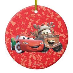 Lightning Mcqueen & Mater Christmas Ornament
