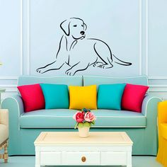 Wall Decals Labrador Vinyl Sticker Dog Decal Veterinary Pets Shop Grooming Salon Decor Art Design Home Bedroom Dorm Window Chu715