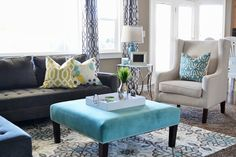 Sita Montgomery Interiors: Local Client Project Reveal: Budget Friendly Family Room