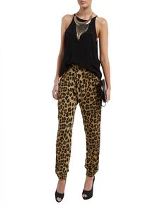 Leopard Slouch Pant - Bardot