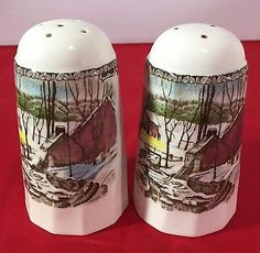 Johnson Brothers The Friendly Village Pattern Salt & Pepper Set Made in England
