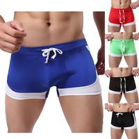 Boxer Briefs Underwear Swim Shorts Pants Men's Swimming Trunks Sexy Swimwear Hot