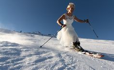 Wedding on Skis, why not? by Christoph Oberschneider on 500px
