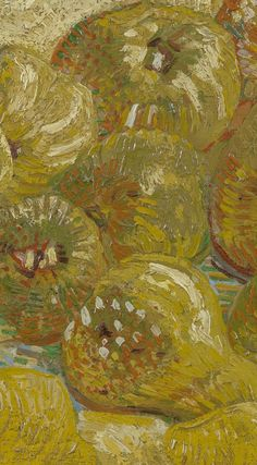 Detail of 'Quinces, Lemons, Pears and Grapes', September-October Vincent van Gogh - Credits (obliged to state): Van Gogh Museum, Amsterdam (Vincent van Gogh Foundation). Van Gogh Museum, Shades Of Yellow, French Artists, Pears, Vincent Van Gogh, Painters, Painting & Drawing, Still Life, Amsterdam