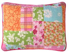 Patchwork Quilted Pillow Shams - Your Western Decor