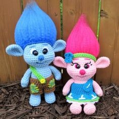 Crochet Dolls Patterns Crochet Troll Doll Best Free Easy Patterns Tutorials - These adorable crochet troll doll patterns include everything from the classic troll dolls you grew up with, to the new Trolls Poppy and Branch! Crochet Doll Pattern, Crochet Toys Patterns, Amigurumi Patterns, Stuffed Toys Patterns, Crochet Dolls, Doll Patterns, Easy Patterns, Crochet Doll Clothes, Clothes Patterns