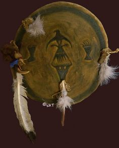 Plains Indian War Shield Here is a shield cover (made of brain tanned buffalo ) based on Rain in the Face's shield