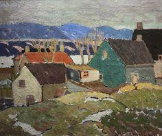 Albert H. Robinson - Snow Scene Bienville x Oil on canvas Snow Scenes, Oil On Canvas, Landscapes, Artist, Painting, Paisajes, Scenery, Painting Art, Paintings