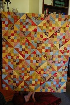 Quilt tutorial - using charm squares