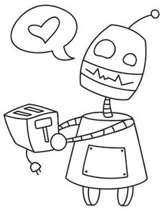 Robot Love | Urban Threads: Unique and Awesome Embroidery Designs