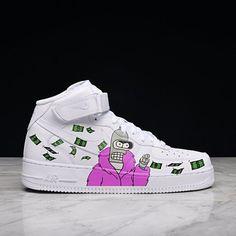 hot sale online ec0bb bc4b6 Futurama, bender custom air force one ,custom sneakers,custom shoes,custom  nike