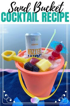 Alcoholic Punch Recipes, Alcohol Drink Recipes, Cocktail Recipes, Beach Drinks, Fun Drinks, Mixed Drinks, Easy Summer Cocktails, Frozen Cocktails, Rum Bucket Recipe