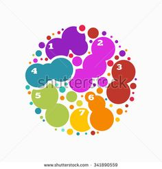 Circle by circles colorful abstract background , infographics with text space
