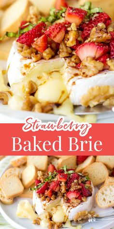 The easiest spring appetizer, LOVE this strawberry baked brie! Baked Brie Appetizer, Best Appetizers, Strawberry Balsamic, Good Food, Yummy Food, Hors D'oeuvres, Charcuterie, Summer Recipes, Healthy Eats