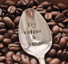 I Love Coffee & Blogs... Vintage Coffee Spoon For COFFEE and BLOG LOVERS by jessicaNdesigns. $12.00, via Etsy.