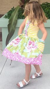 Girl's Cate and Cruz Hello Sunshine Floral Limited Pockets Boutique Dress Size 5
