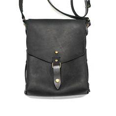 4002bf978a81 Авторская мужская сумка Handmade в стиле Crossbody из тонкой черной  итальянской кожи в подарок самому стильному