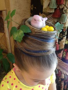 Created by Seriously Spoiled. The Bird's Nest! - Created by Seriously Spoiled. Created by Seriously Spoiled. Crazy Hair Day At School, Crazy Hair Days, Fancy Hairstyles, Girl Hairstyles, Bird Nest Hair, Aurora Hair, Wacky Hair Days, Days For Girls, Girl Hair Dos