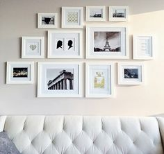 gallery wall like the idea of using pictures you've taken on your travels instead of photos of family