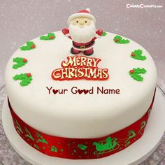 Happy Merry Christmas Wishes Cake With Name Wishes Pictures Create, Online My/Your Name Print Beautiful Christmas Santa Claus Cake Image Editor App, Free Name Greeting Cake Merry C. Christmas Greeting Cards Images, Merry Christmas Pictures, Happy Merry Christmas, Happy Birthday Wishes Photos, Xmas Wishes, New Birthday Cake, Happy Birthday Cakes, Christmas Day Celebration, Santa Cake