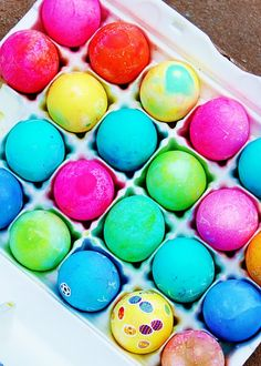bright and colorful eggs