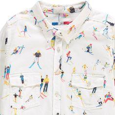 G.KERO Skiers Stars Pocket Shirt-product