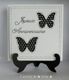 Carte anniversaire papillons