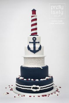 nautical wedding cake - Google Search