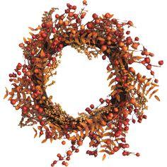 Found it at Joss & Main - Faux Berries & Foliage Wreath