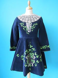 Vintage Velvet Irish Dancing Dress | eBay